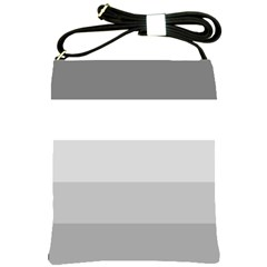 Elegant Shades Of Gray Stripes Pattern Striped Shoulder Sling Bags