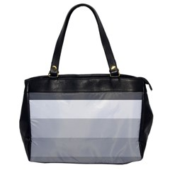 Elegant Shades Of Gray Stripes Pattern Striped Office Handbags