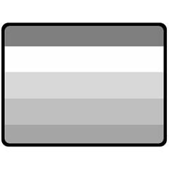 Elegant Shades Of Gray Stripes Pattern Striped Fleece Blanket (large)