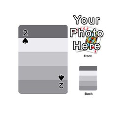 Elegant Shades Of Gray Stripes Pattern Striped Playing Cards 54 (mini)