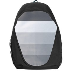 Elegant Shades Of Gray Stripes Pattern Striped Backpack Bag