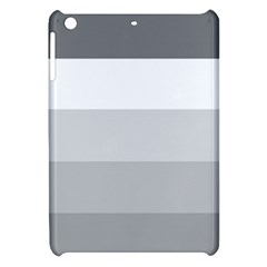 Elegant Shades Of Gray Stripes Pattern Striped Apple Ipad Mini Hardshell Case