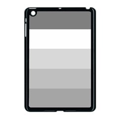 Elegant Shades Of Gray Stripes Pattern Striped Apple Ipad Mini Case (black)