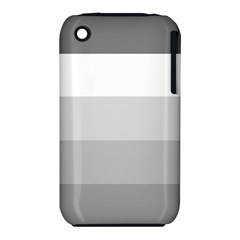 Elegant Shades Of Gray Stripes Pattern Striped Iphone 3s/3gs