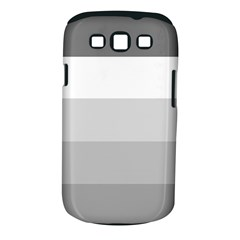 Elegant Shades Of Gray Stripes Pattern Striped Samsung Galaxy S Iii Classic Hardshell Case (pc+silicone)