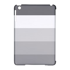 Elegant Shades Of Gray Stripes Pattern Striped Apple Ipad Mini Hardshell Case (compatible With Smart Cover)
