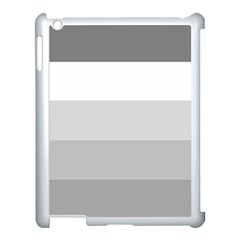 Elegant Shades Of Gray Stripes Pattern Striped Apple Ipad 3/4 Case (white)