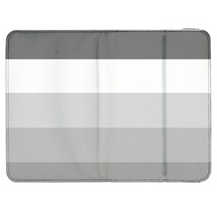 Elegant Shades Of Gray Stripes Pattern Striped Samsung Galaxy Tab 7  P1000 Flip Case