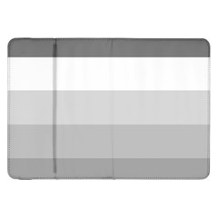 Elegant Shades Of Gray Stripes Pattern Striped Samsung Galaxy Tab 8 9  P7300 Flip Case