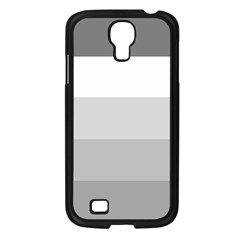 Elegant Shades Of Gray Stripes Pattern Striped Samsung Galaxy S4 I9500/ I9505 Case (black)