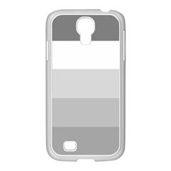 Elegant Shades Of Gray Stripes Pattern Striped Samsung Galaxy S4 I9500/ I9505 Case (white)