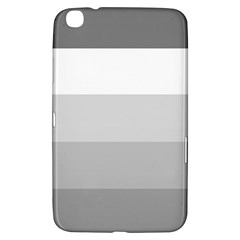 Elegant Shades Of Gray Stripes Pattern Striped Samsung Galaxy Tab 3 (8 ) T3100 Hardshell Case