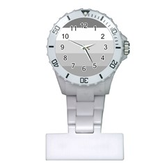 Elegant Shades Of Gray Stripes Pattern Striped Plastic Nurses Watch
