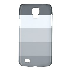 Elegant Shades Of Gray Stripes Pattern Striped Galaxy S4 Active