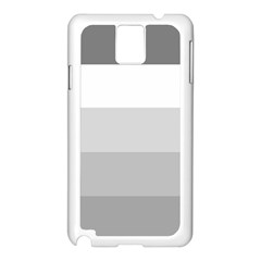 Elegant Shades Of Gray Stripes Pattern Striped Samsung Galaxy Note 3 N9005 Case (white)
