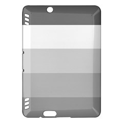 Elegant Shades Of Gray Stripes Pattern Striped Kindle Fire Hdx Hardshell Case