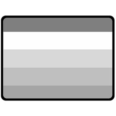 Elegant Shades Of Gray Stripes Pattern Striped Double Sided Fleece Blanket (large)