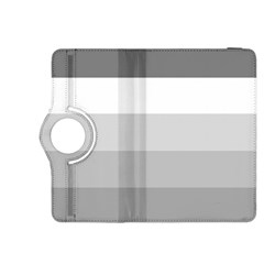 Elegant Shades Of Gray Stripes Pattern Striped Kindle Fire Hdx 8 9  Flip 360 Case
