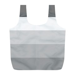 Elegant Shades Of Gray Stripes Pattern Striped Full Print Recycle Bags (l)