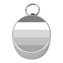 Elegant Shades Of Gray Stripes Pattern Striped Mini Silver Compasses