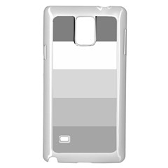 Elegant Shades Of Gray Stripes Pattern Striped Samsung Galaxy Note 4 Case (white)