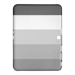 Elegant Shades Of Gray Stripes Pattern Striped Samsung Galaxy Tab 4 (10 1 ) Hardshell Case