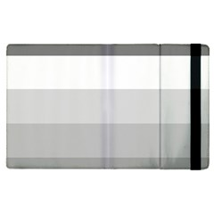 Elegant Shades Of Gray Stripes Pattern Striped Apple Ipad Pro 9 7   Flip Case