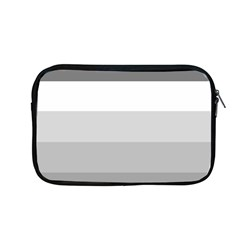 Elegant Shades Of Gray Stripes Pattern Striped Apple Macbook Pro 13  Zipper Case