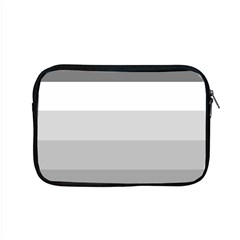Elegant Shades Of Gray Stripes Pattern Striped Apple Macbook Pro 15  Zipper Case