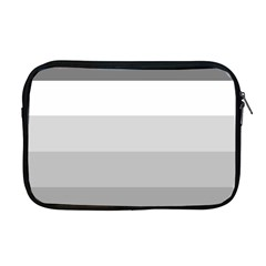 Elegant Shades Of Gray Stripes Pattern Striped Apple Macbook Pro 17  Zipper Case