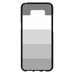Elegant Shades Of Gray Stripes Pattern Striped Samsung Galaxy S8 Plus Black Seamless Case