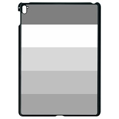Elegant Shades Of Gray Stripes Pattern Striped Apple Ipad Pro 9 7   Black Seamless Case