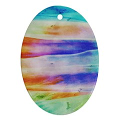 Background Color Splash Ornament (oval)