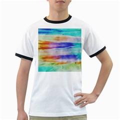 Background Color Splash Ringer T Shirts