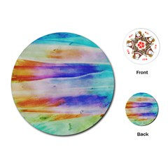 Background Color Splash Playing Cards (round)  by goodart