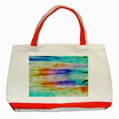 Background Color Splash Classic Tote Bag (red) by goodart