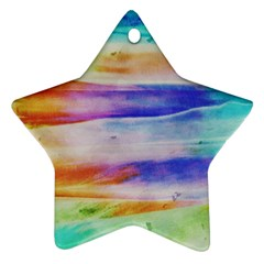 Background Color Splash Star Ornament (two Sides)