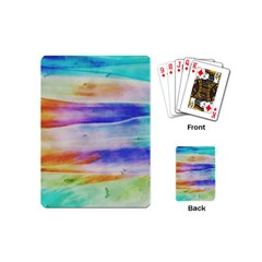 Background Color Splash Playing Cards (mini)