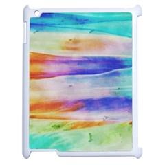 Background Color Splash Apple Ipad 2 Case (white) by goodart