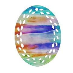 Background Color Splash Ornament (oval Filigree) by goodart