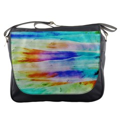 Background Color Splash Messenger Bags