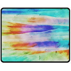 Background Color Splash Double Sided Fleece Blanket (medium)  by goodart