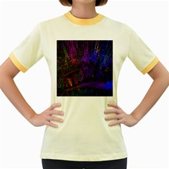 Color Splash Trail Women s Fitted Ringer T Shirts
