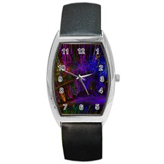Color Splash Trail Barrel Style Metal Watch