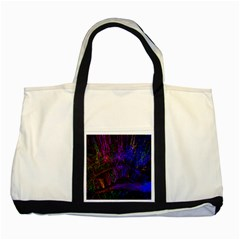 Color Splash Trail Two Tone Tote Bag by goodart