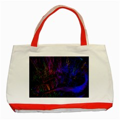 Color Splash Trail Classic Tote Bag (red) by goodart