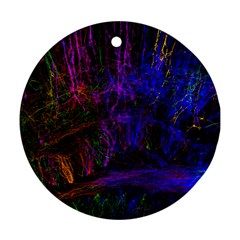 Color Splash Trail Round Ornament (two Sides)