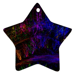 Color Splash Trail Star Ornament (two Sides)