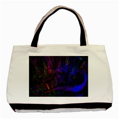 Color Splash Trail Basic Tote Bag (two Sides) by goodart