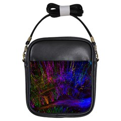 Color Splash Trail Girls Sling Bags